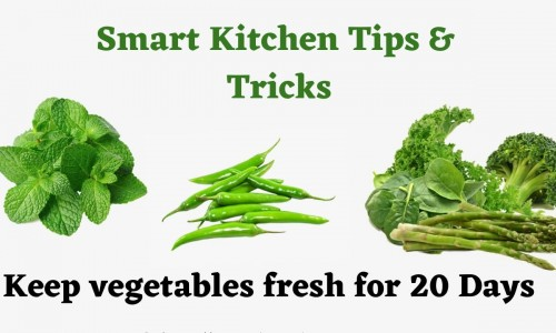 How to Preserve Green Leafy Vegetable for long time